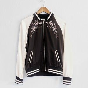 Cherry Blossom Letterman Jacket Size Medium